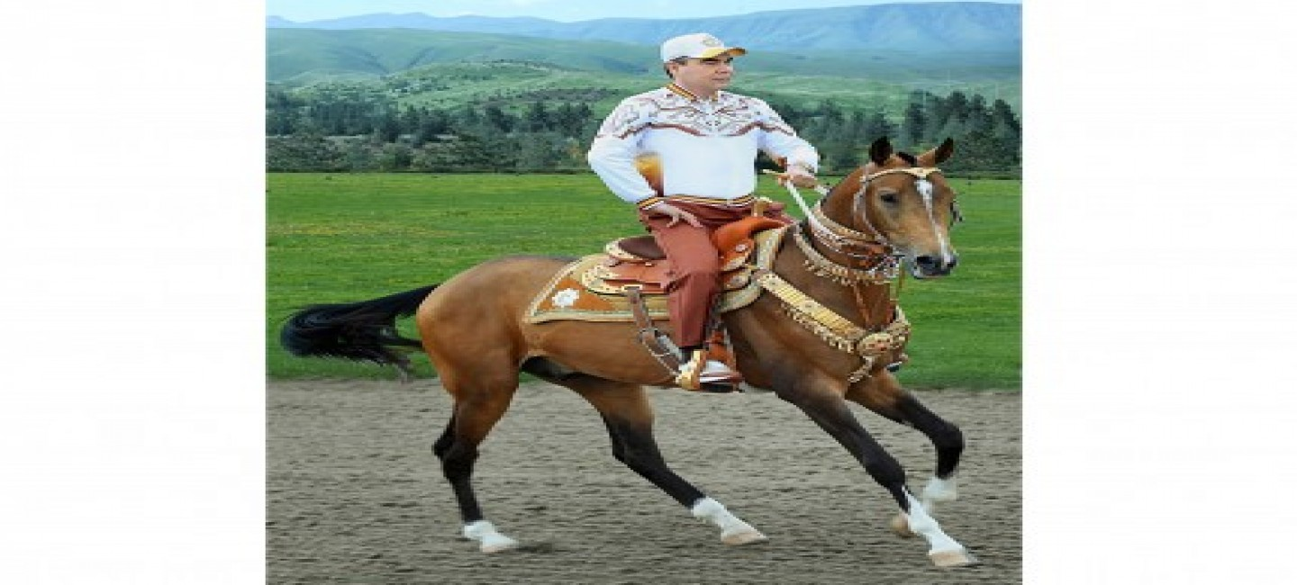 FESTIVE EVENTS AT THE AKHALTEKE EQUESTRIAN COMPLEX OF THE PRESIDENT OF TURKMENISTAN