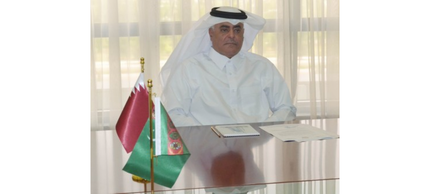 MEETING WITH THE AMBASSADOR OF THE STATE OF QATAR TO TURKMENISTAN WHOSE MISSION IN THE COUNTRY IS COMPLETING