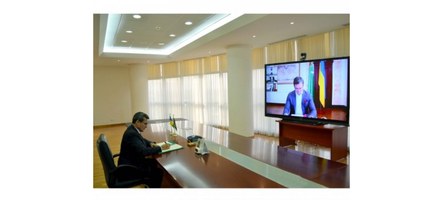 VIDEOCONFERENCE BETWEEN THE MINISTERS OF FOREIGN AFFAIRS OF TURKMENISTAN AND UKRAINE